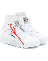 Off-White c/o Virgil Abloh Sneakers High 3.0 aus Canvas - Weiß