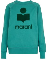 Étoile Isabel Marant Milly Logo Cotton-blend Sweatshirt - Green