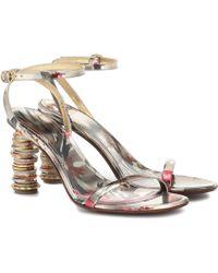 Vetements Money Leather Sandals - Metallic