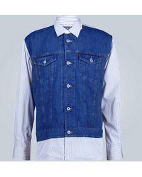 Junya Watanabe MAN x Levi's Jeansjacke aus Baumwolle - Blau