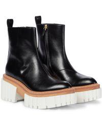 Stella McCartney Plateau-Ankle Boots Emilie - Schwarz