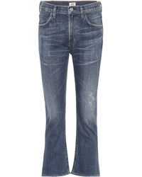Citizens of Humanity Jeans Drew Crop Flare - Blau