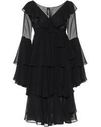 Norma Kamali Ruffled Dress - Black