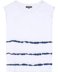 7 For All Mankind - Surfer Tie Dye Cotton Top - Lyst