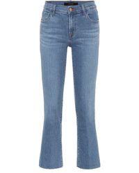 J Brand Mid-Rise Jeans Selena - Blau