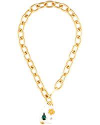 Marni Halskette mit Kristallen - Mettallic