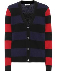 Equipment - Shelly Striped Cashmere Cardigan - Lyst