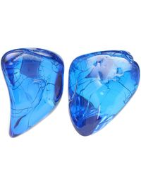 Balenciaga Ohrringe aus Harz - Blau