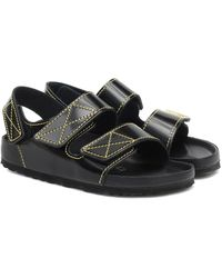 Proenza Schouler X Birkenstock Milano Leather Sandals - Black
