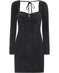 GRLFRND Vestido corto Amina de jeans - Negro