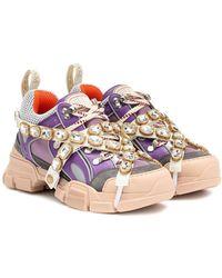 Gucci Flashtrek Embellished Sneakers - Multicolor