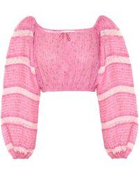 LoveShackFancy Exclusive To Mytheresa – Albertina Floral Cotton Top - Pink