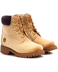 Off-White c/o Virgil Abloh X Timberland Velvet Ankle Boots - Multicolor