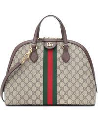 Gucci Bolso al hombro Ophidia GG Medium - Marrón