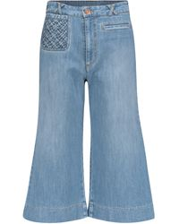 See By Chloé High-rise Flared Cropped Jeans - Blue