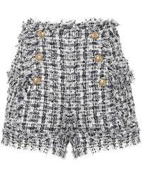 Balmain Shorts in tweed - Blu
