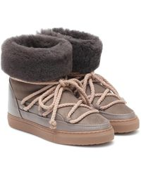 Inuikii Classic Suede And Leather Boots - Brown