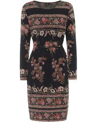 Etro Vestido en mezcla de lana - Negro
