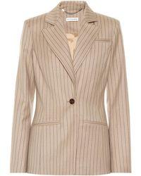 Altuzarra Acacia Striped Wool-blend Blazer - Natural