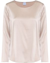 Max Mara - Leisure Moldava Stretch Silk-satin Top - Lyst