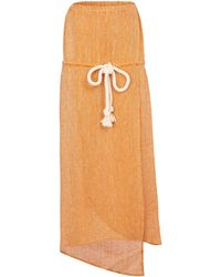 Lisa Marie Fernandez - Victor Linen-blend Gauze Midi Dress - Lyst