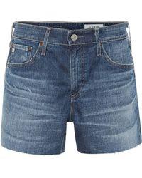 AG Jeans Short The Hailey Ex-Boyfriend en jean - Bleu