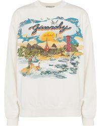 Givenchy Printed Cotton Jersey Sweatshirt - White