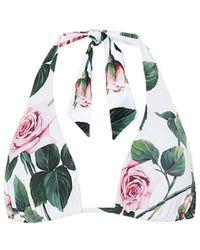 Dolce & Gabbana Top bikini a stampa floreale - Multicolore
