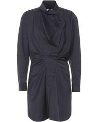 Étoile Isabel Marant Robe chemise Valentine en laine vierge - Bleu