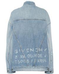 Givenchy Oversized Denim Jacket - Blue