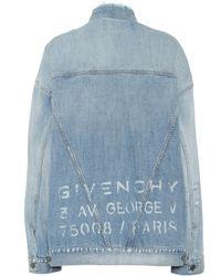 Givenchy Chaqueta de jeans oversized - Azul