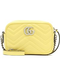 Gucci GG Marmont Small Shoulder Bag - Yellow