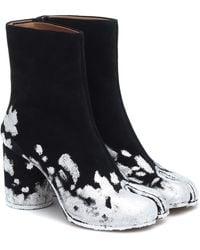 Maison Margiela Tabi Suede Ankle Boots - Black