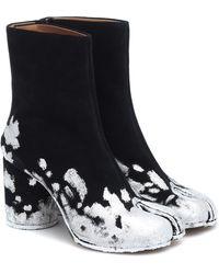 Maison Margiela Ankle Boots Tabi aus Veloursleder - Schwarz