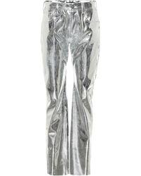 Kwaidan Editions Pantalon droit à taille haute métallisé
