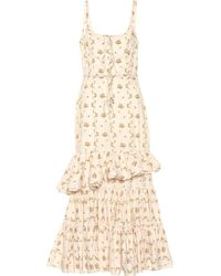 Brock Collection Onilde Floral Cotton Maxi Dress - White