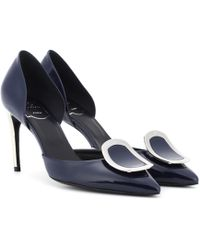 Roger Vivier - Dorsay Sexy Choc Patent Leather Pumps - Lyst