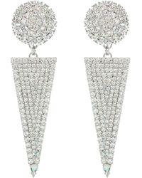 Alessandra Rich Embellished Triangle Earrings - Metallic