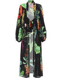 Johanna Ortiz Exclusive To Mytheresa.com – Kiribati Silk Kimono Cardigan - Black