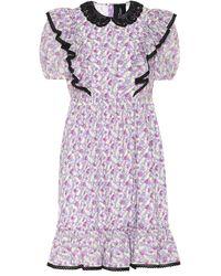 Marc Jacobs Robe The Shirley imprimée en coton - Violet