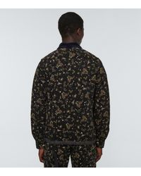 Sacai Printed Blouson Jacket - Black