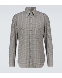 Thom Sweeney - Aloe Slim-fit Gingham Shirt - Lyst