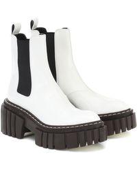 Stella McCartney Chelsea Boots Emilie aus Lederimitat - Weiß
