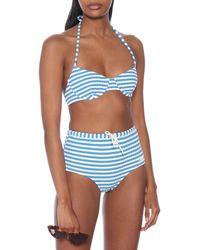 Solid & Striped Bikini-Oberteil The Ginger - Blau