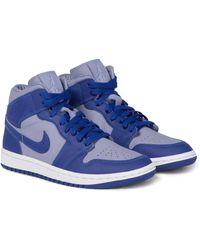 Nike Zapatillas Air Jordan 1 de piel - Azul