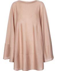 Alaïa Cashmere And Silk Poncho - Pink