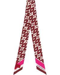 Valentino Pañuelo de seda estampado - Multicolor