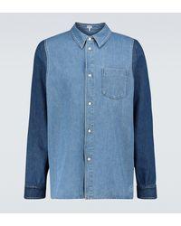 Loewe Hemdjacke aus Denim - Blau
