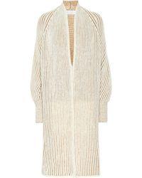 Chloé Ribbed Wool-blend Cardigan - Natural