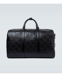 Gucci Bolso de viaje GG de piel - Negro